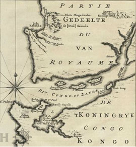 Map of the mouth of the Congo River, 1747